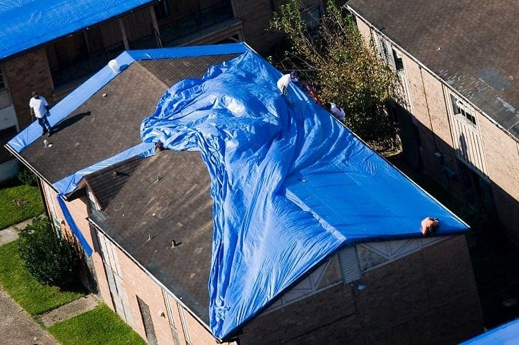 Average Hurricane Tarp Size